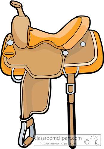 348x500 Cowboy Clipart Horse Saddle