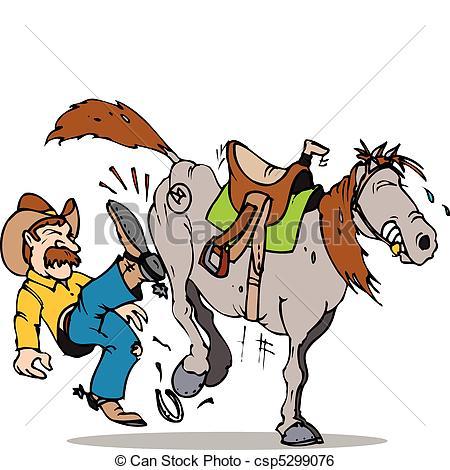 450x470 Kick Start Horse. Cowboy Kicking His Stubborn Horse Clip Art