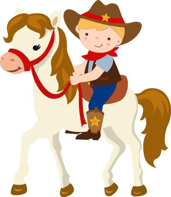 564x648 Cartoon Cowboy On Horse Free Download Clip Art