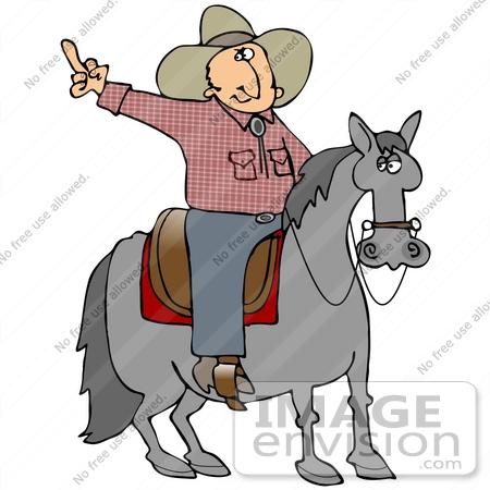 450x450 Clip Art Graphic Of A Tempermental Cowboy On Horseback, Flipping