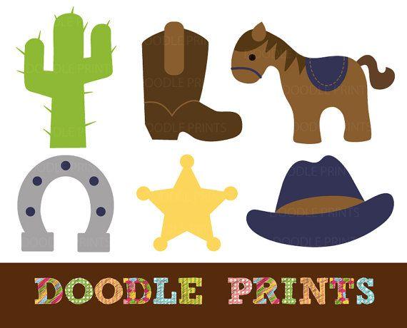 570x460 Cowboy Clipart, Digital Clip Art Printable, Cowboy Western Clipart