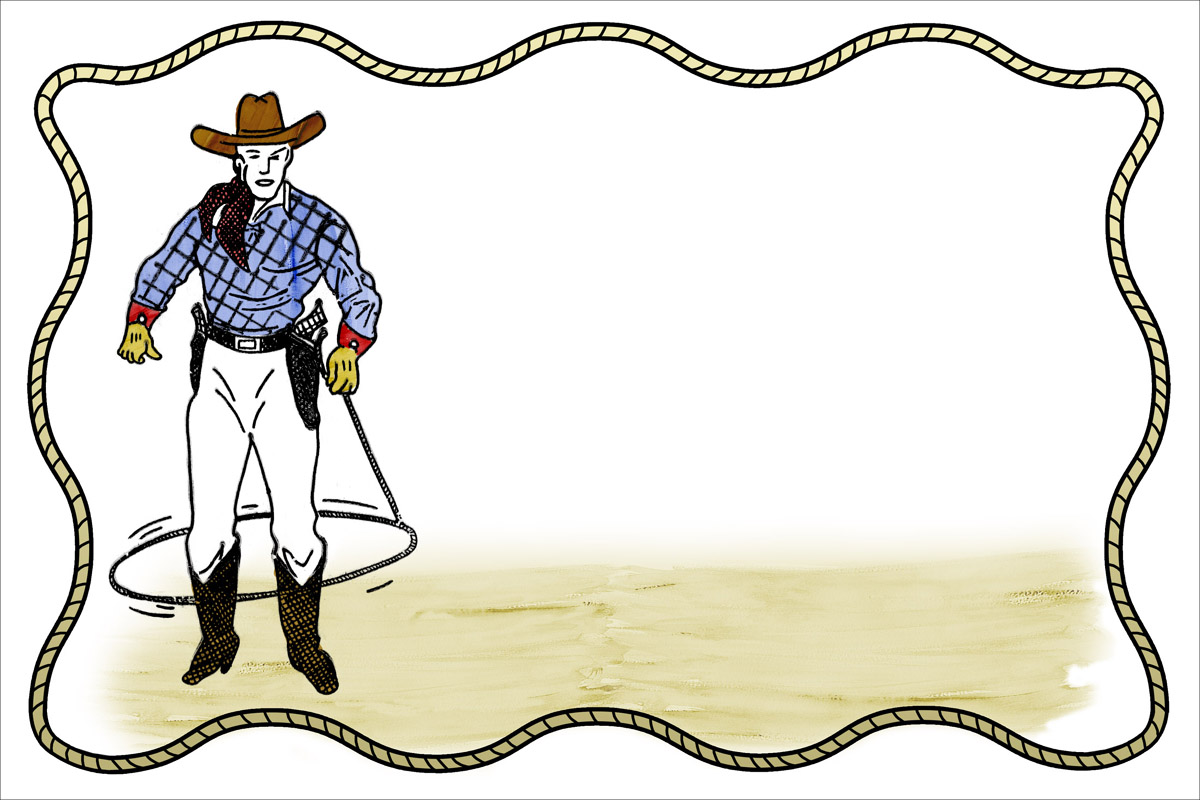 1200x800 Collection Of Cowboy Clipart Borders High Quality, Free