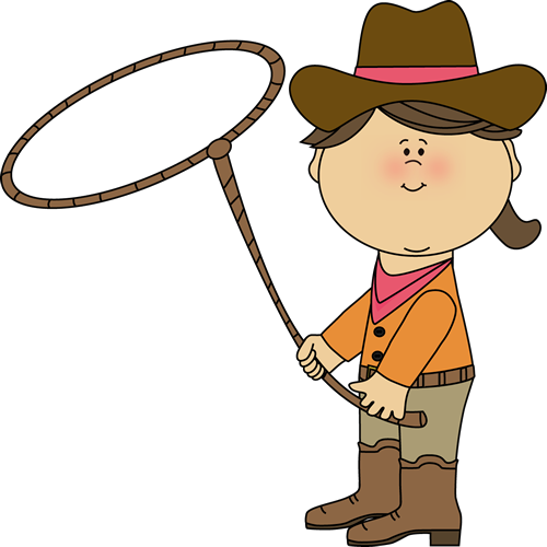 500x500 Cowgirl With A Lasso Clip Art