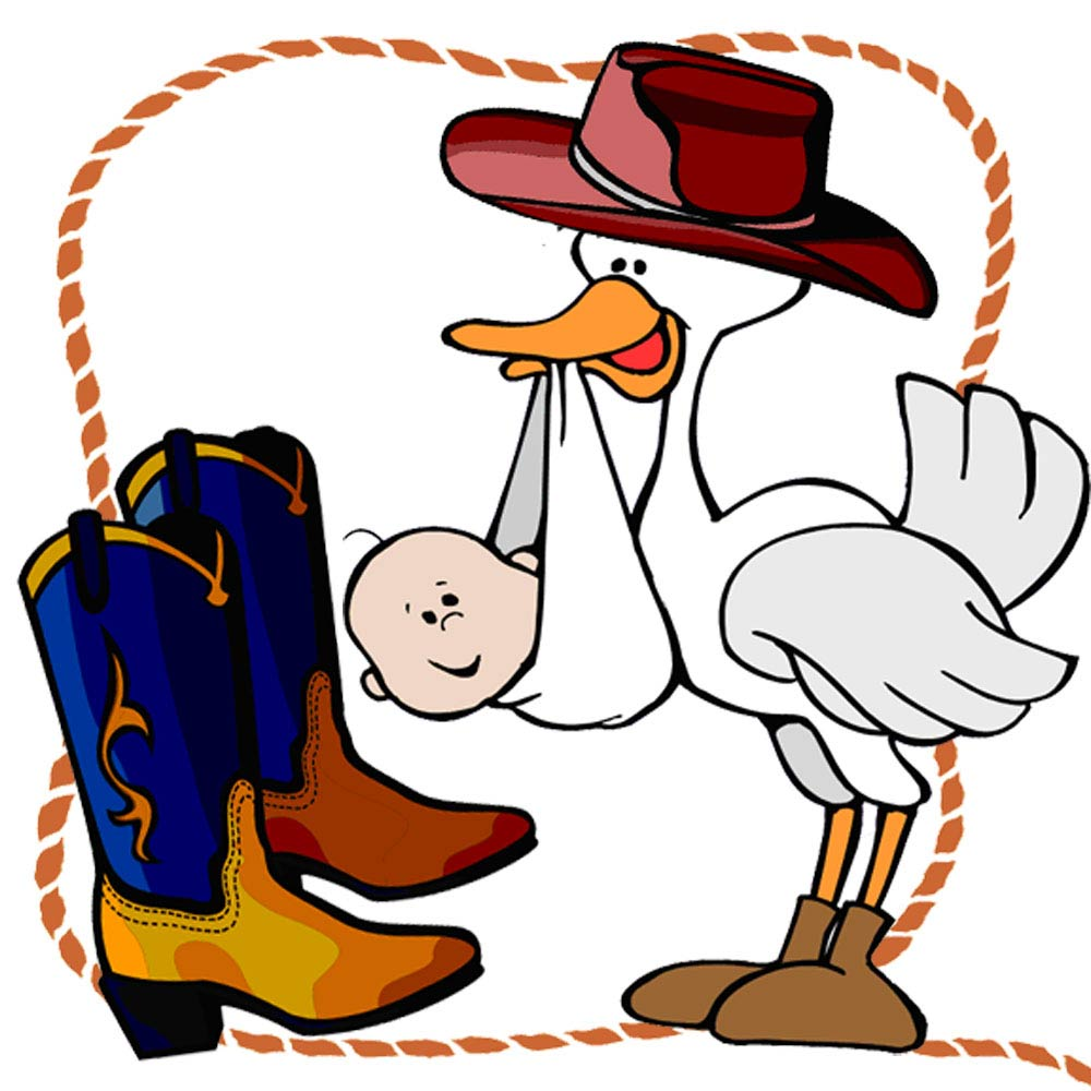1000x1000 Image Of Baby Cowboy Clipart