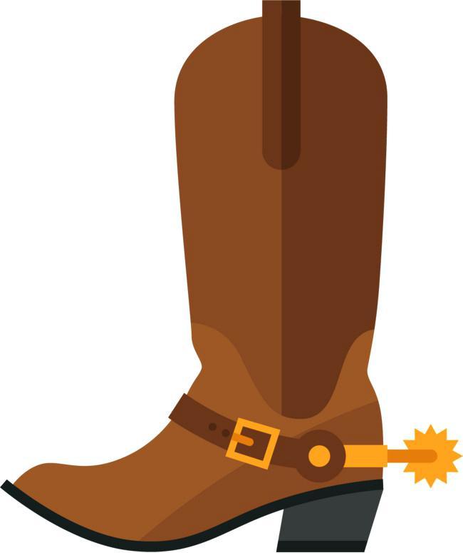 650x775 Cowboy Boot Clipart Free