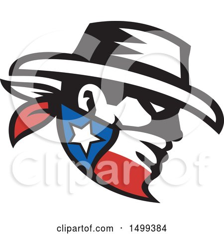 450x470 Clipart Retro Black And White Rodeo Cowboy On A Bucking Horse 1