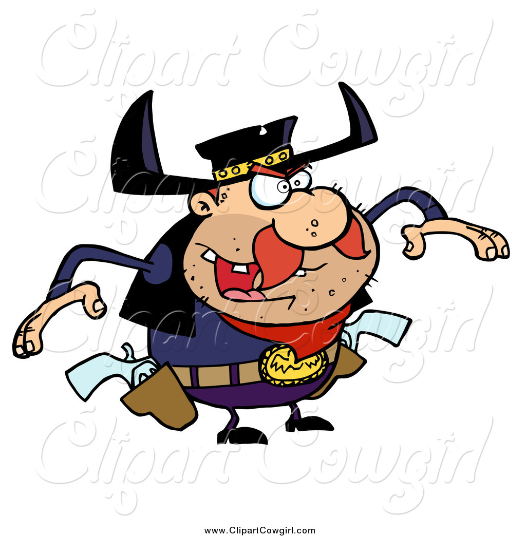 1024x1044 Clipart Of A Cowboy Outlaw Ready To Draw His Pistols By Hit Toon