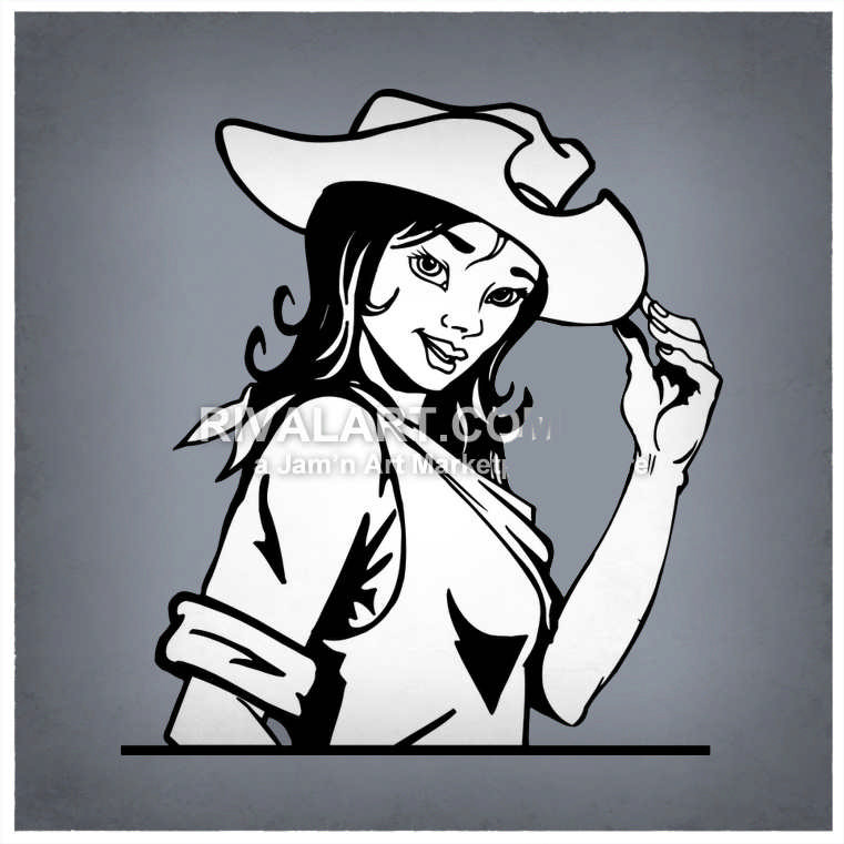 761x761 Cowgirl Tipping Her Hat