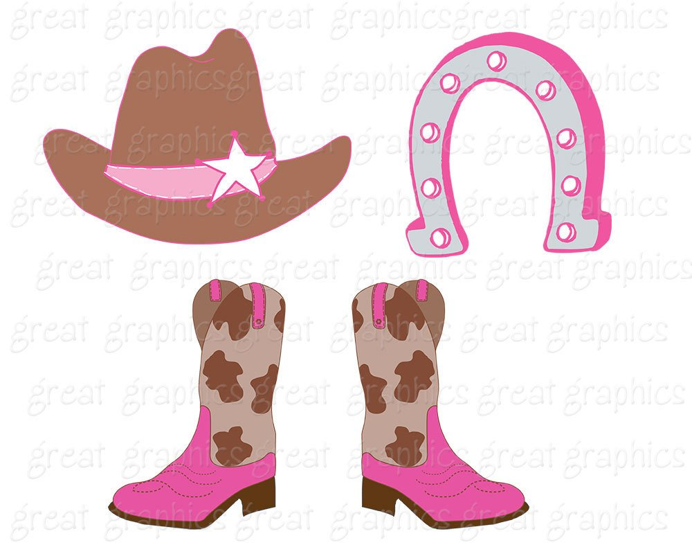 1000x800 Pink Cowgirl Clipart