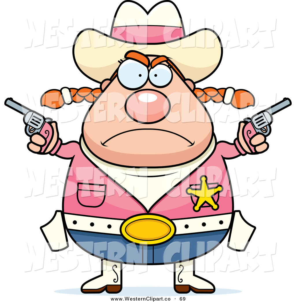1024x1044 Vector Western Clip Art Of A Plump Angry Cowgirl Wearing A Pink