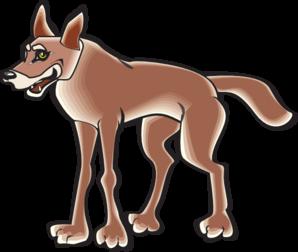 298x252 Coyote Cartoon Clip Art