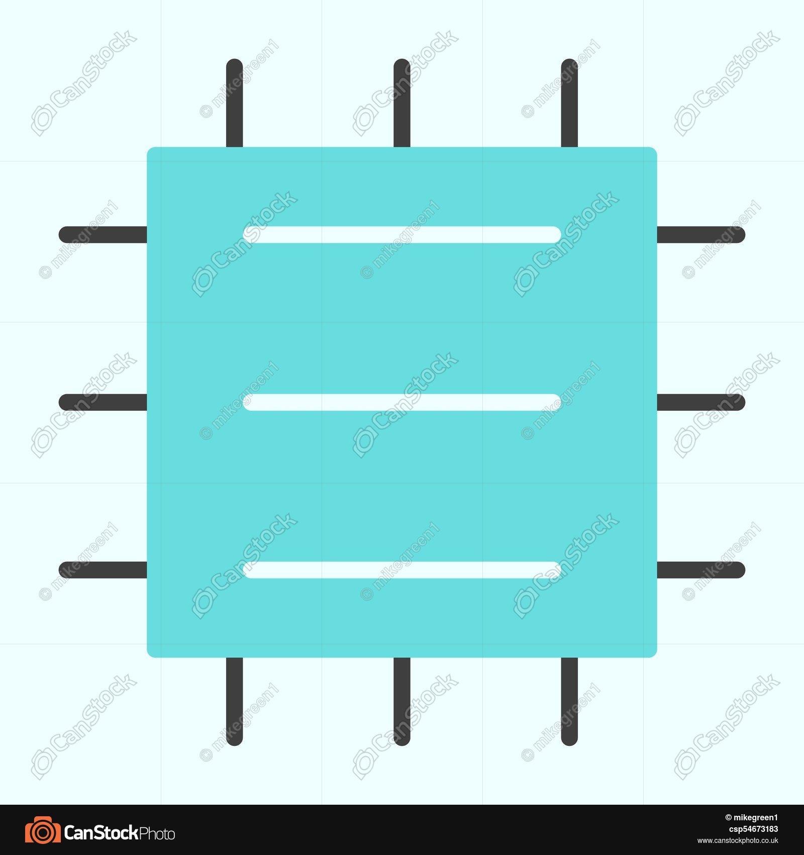 1600x1700 Central Processor Unit Icon. Cpu Vector Simple Minimal 96x96