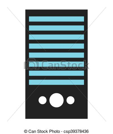 398x470 Computer Cpu Server Icon Vector Isolated Graphic Vectors