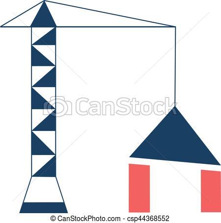 450x453 Crane And Building Logotype. The Logo, A Construction Crane