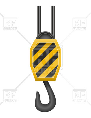311x400 Hook Crane For Lifting Goods Royalty Free Vector Clip Art Image