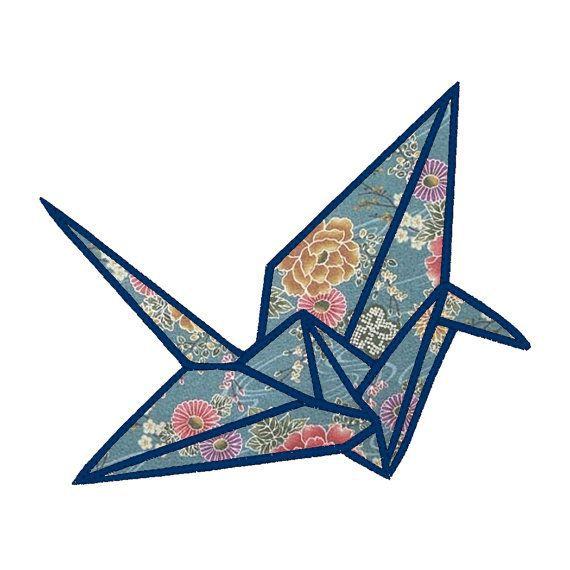 570x570 Origami Clipart Japanese Crane Pencil And In Color Origami Clipart