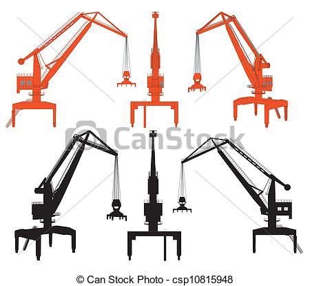 450x414 Shipyard Crane Vector Eps Vector