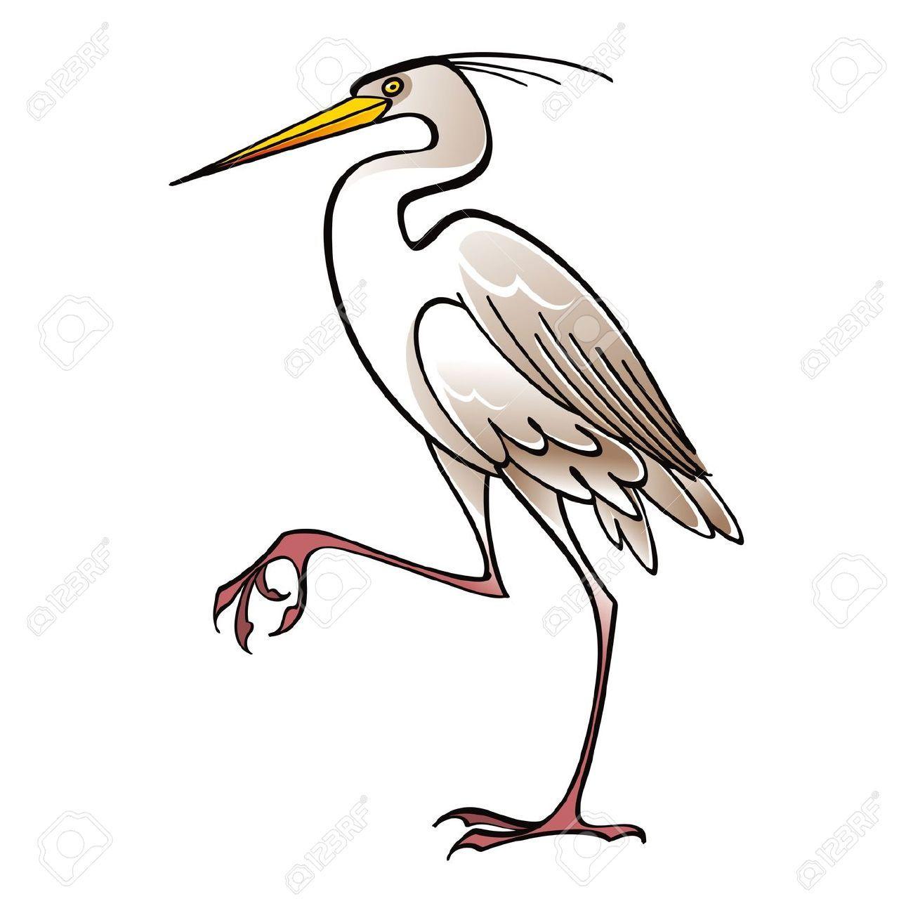 1300x1300 White Crane Bird Clip Art Bird Clip Art, Drawing