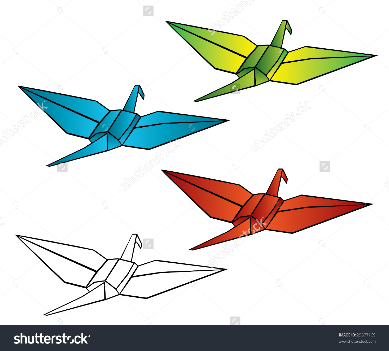 1500x1350 Clip Art Origami Crane