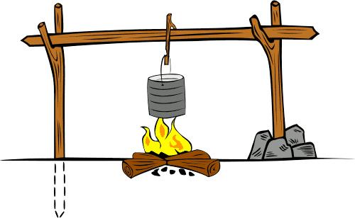 500x308 Cooking Crane 4 Clip Art Download