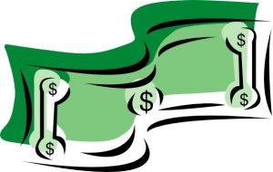 300x190 Money Bill Clipart Stylized Dollar Bill Money Clip Art Free Vector