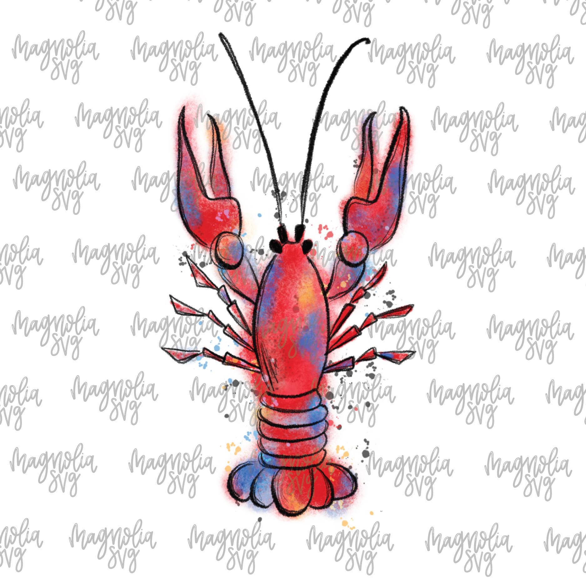 1875x1875 Crawfish Watercolor Clip Art, Hand Painted Watercolor Crawfish