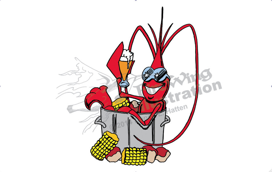 947x600 Crawfish Clip Art Clipart Collection