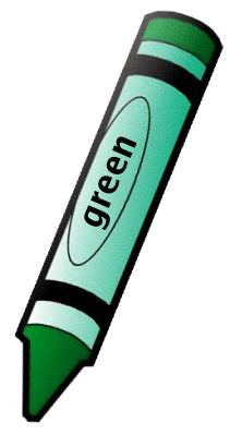 211x400 Crayon Green 1 Clipart Colors Teaching Colors