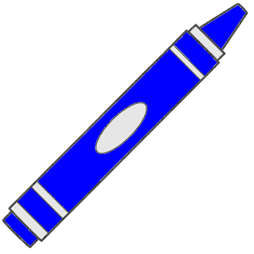 500x500 Free Blue Crayon Clipart Image