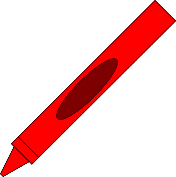 594x599 Red Crayon Clip Art Free Clipart Images