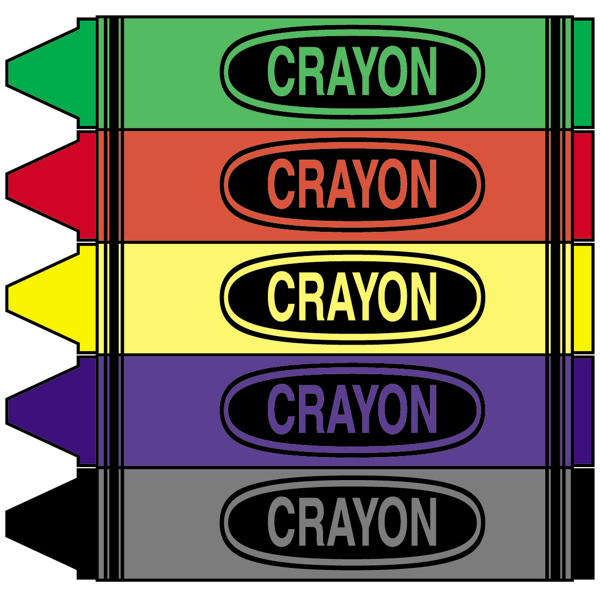 1200x1200 Incredible Crayon Box Clip Art Black And White With Coloring Pages