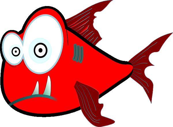 600x440 Clip Art Of Piranha Fish In Color