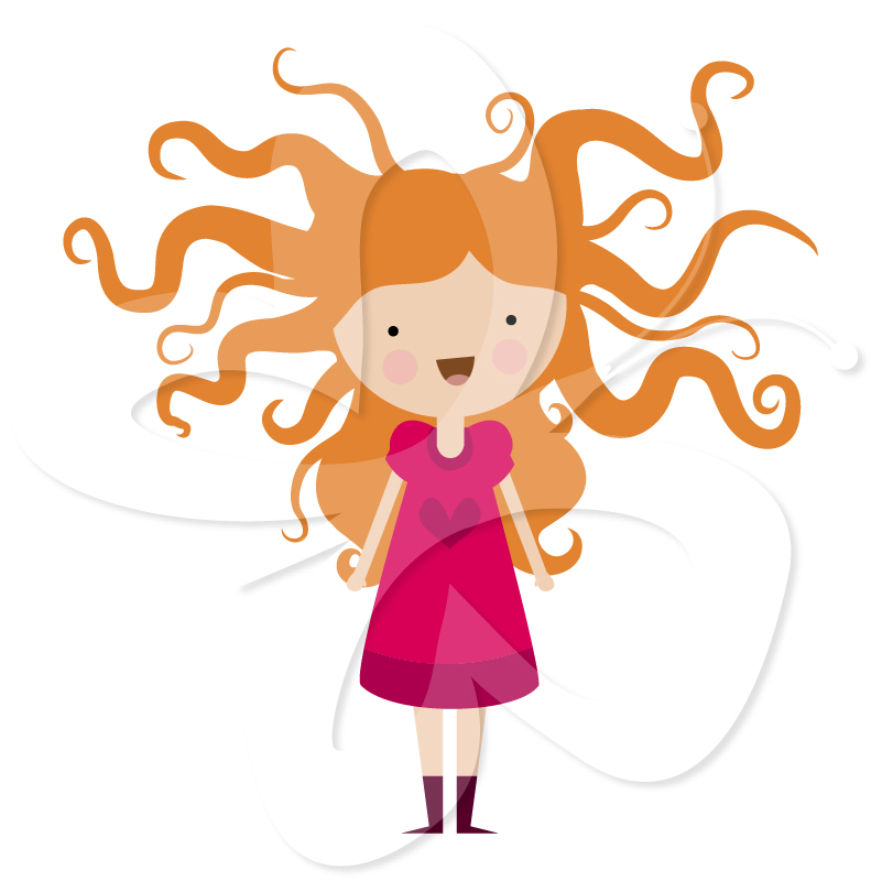 801x800 Collection Of Girl With Crazy Hair Clipart High Quality
