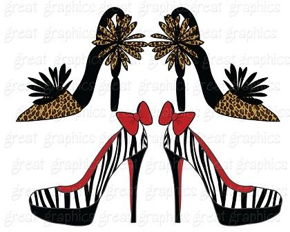 420x336 Crazy Shoes Clip Art