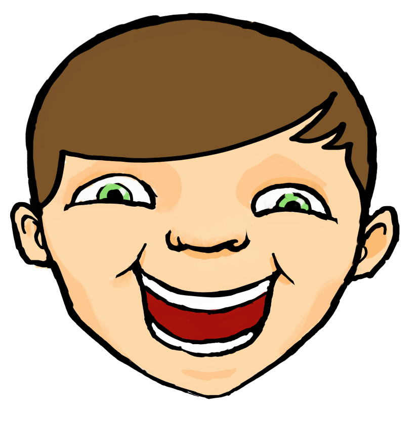 830x837 Laughing Face Clip Art