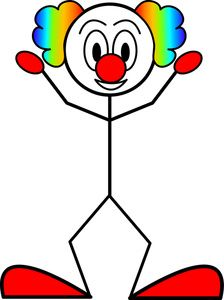 224x300 I'M Down With The Clown Crazy Woman Clip Art