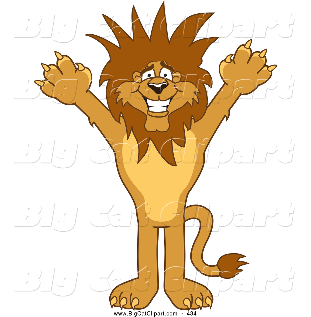 1024x1044 Big Cat Cartoon Vector Clipart Of A Lion Character Mascot