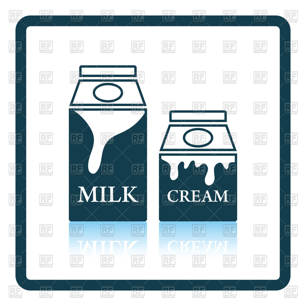 1200x1200 Milk And Cream Container Icon Royalty Free Vector Clip Art Image