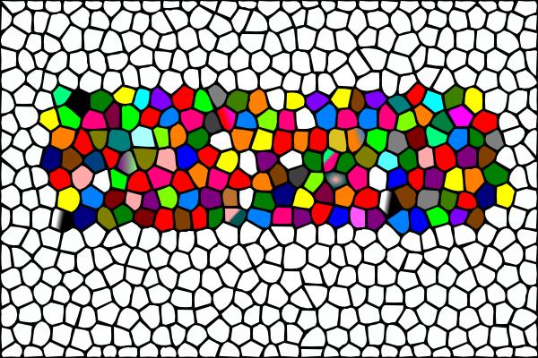 600x400 Mosaic Colour Clip Art