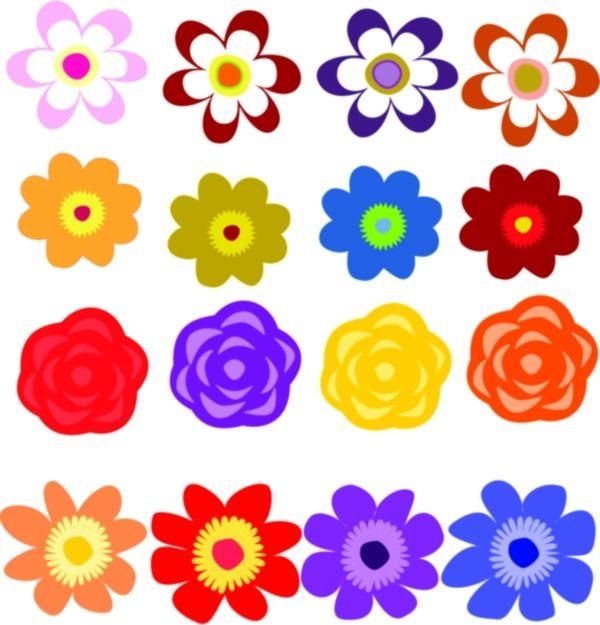600x625 Flowers Clip Art