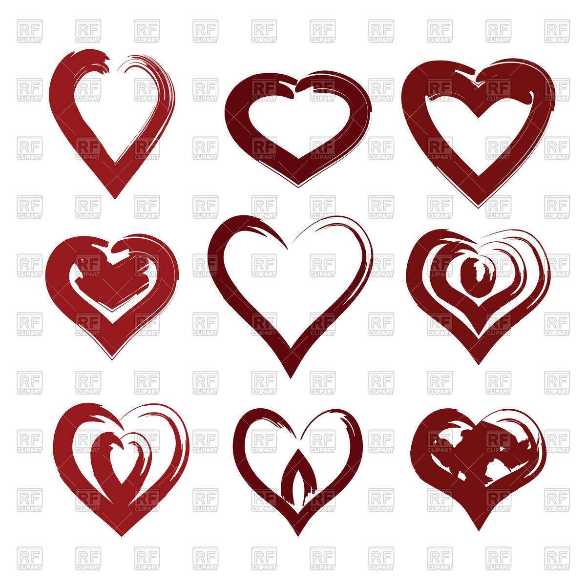 1200x1200 Creative Heart Symbol Royalty Free Vector Clip Art Image