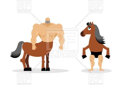400x281 Centaur Mythical Creature. Half Horse Half Person. Royalty Free