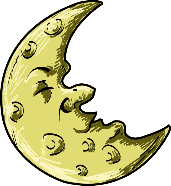 566x616 Free Clip Art Science Astronomy Crescent Cartoon Moon