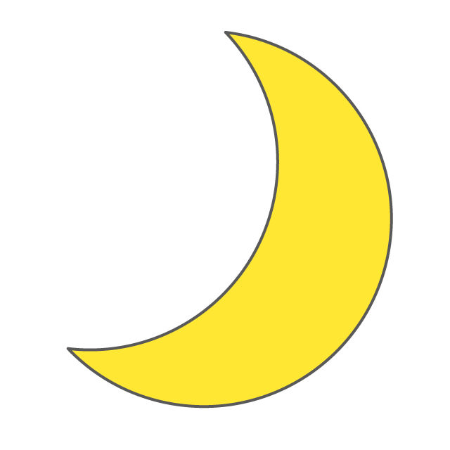 640x640 Monday Crescent Moon Free Illustration Distribution Site