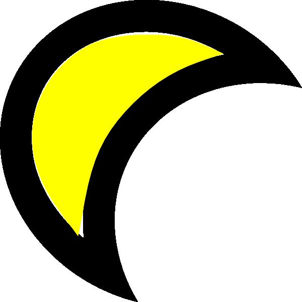 600x600 Moon Clip Art