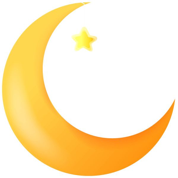 600x600 Cartoon Crescent Moon With A Funny Faces