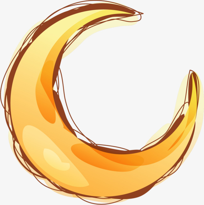 650x651 Cartoon Curved Crescent, Moon, Crescent, Bending The Moon Png