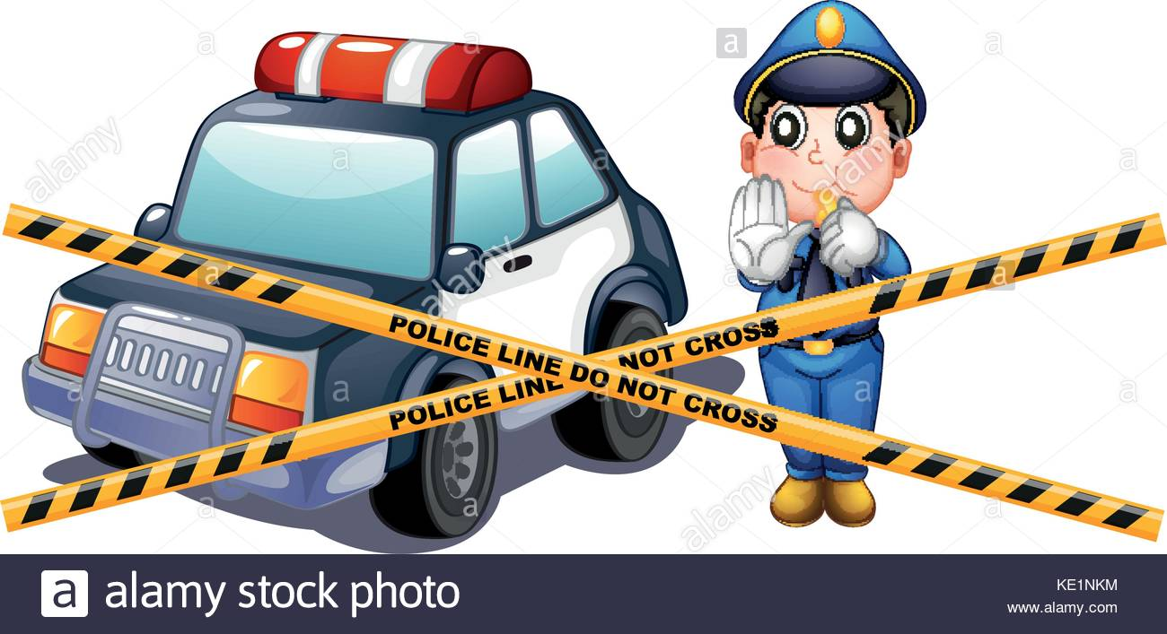 1300x707 Crime Scene Stock Vector Images