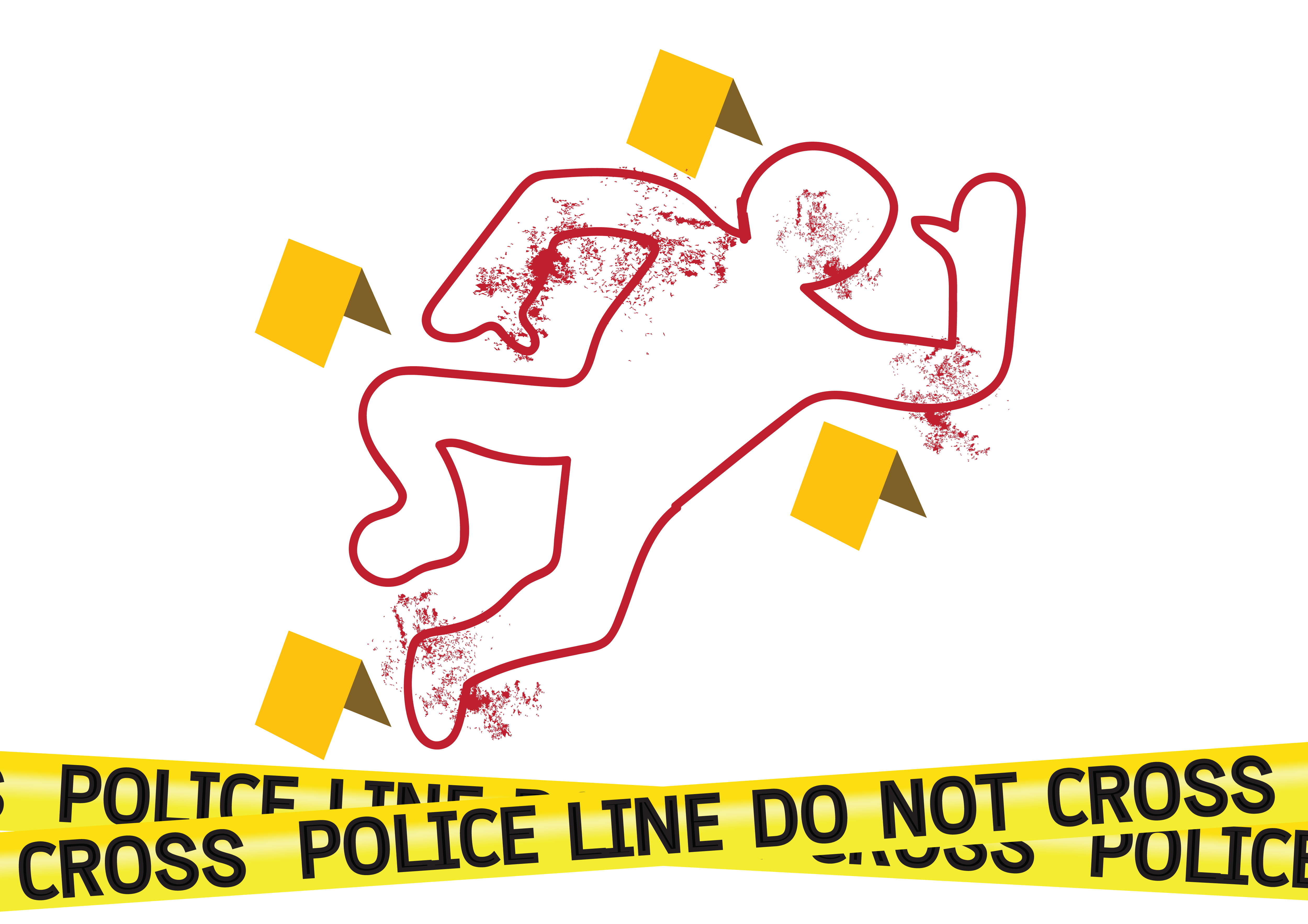 5000x3535 Crime Body Outline Clipart
