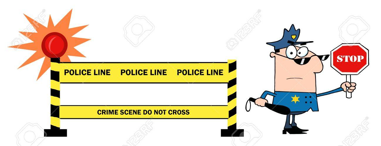 1300x500 Police Line Clipart Yellow